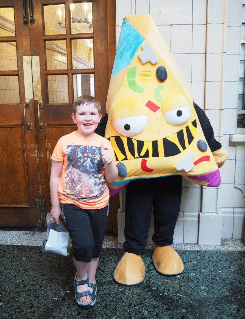meeting Putrid Pizza at Fun at The Grossery Gang Movie London premiere