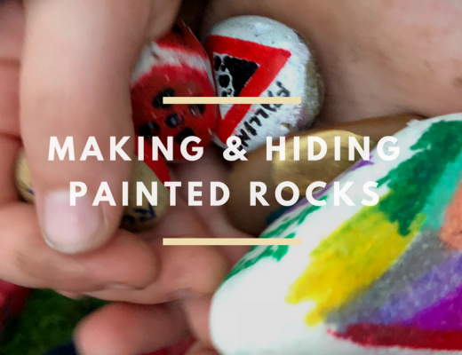 Making and hiding painted rocks