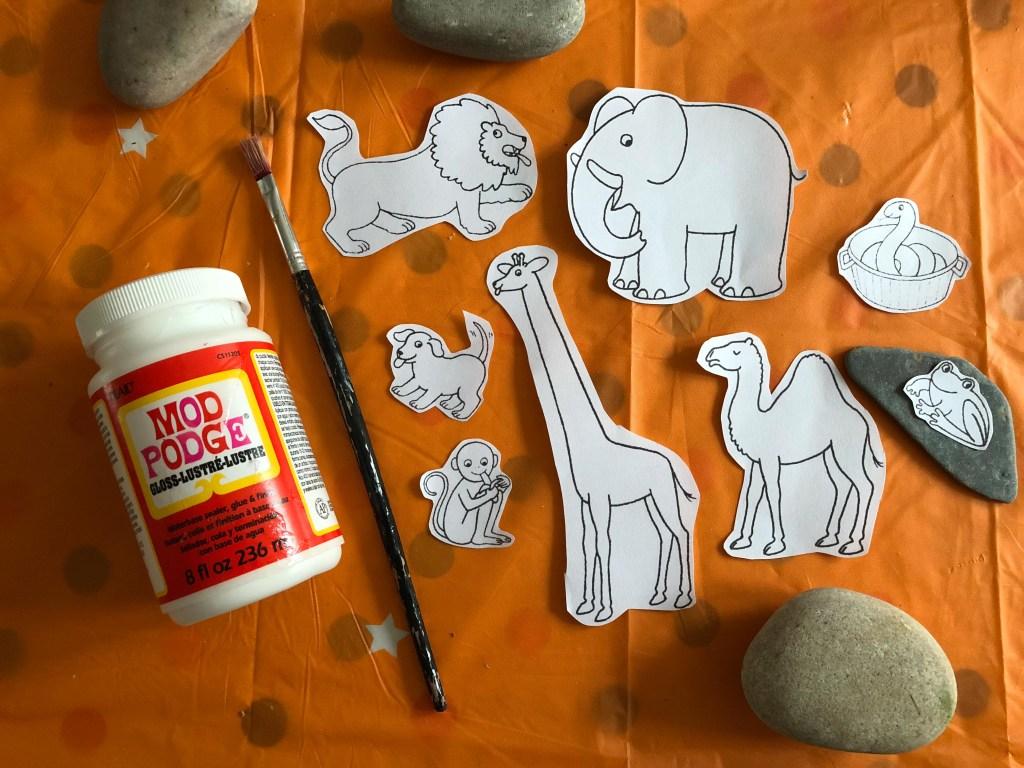 Dear Zoo Story Stones