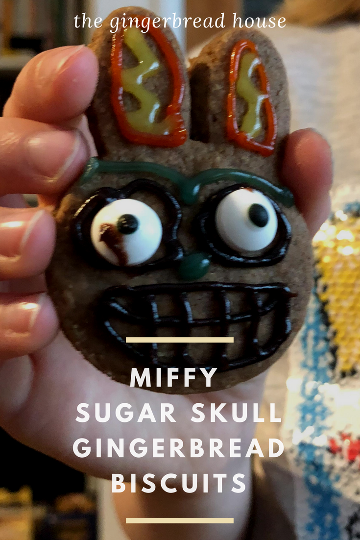 Miffy Sugar Skull gingerbread biscuits