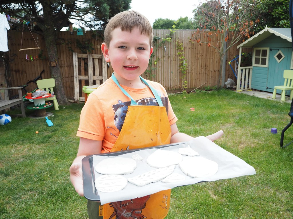 playing with air drying clay