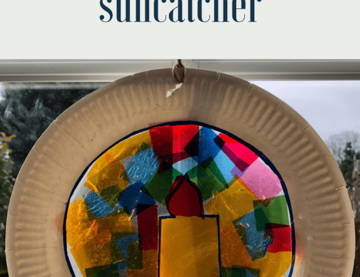 Advent Candle Suncatcher tutorial