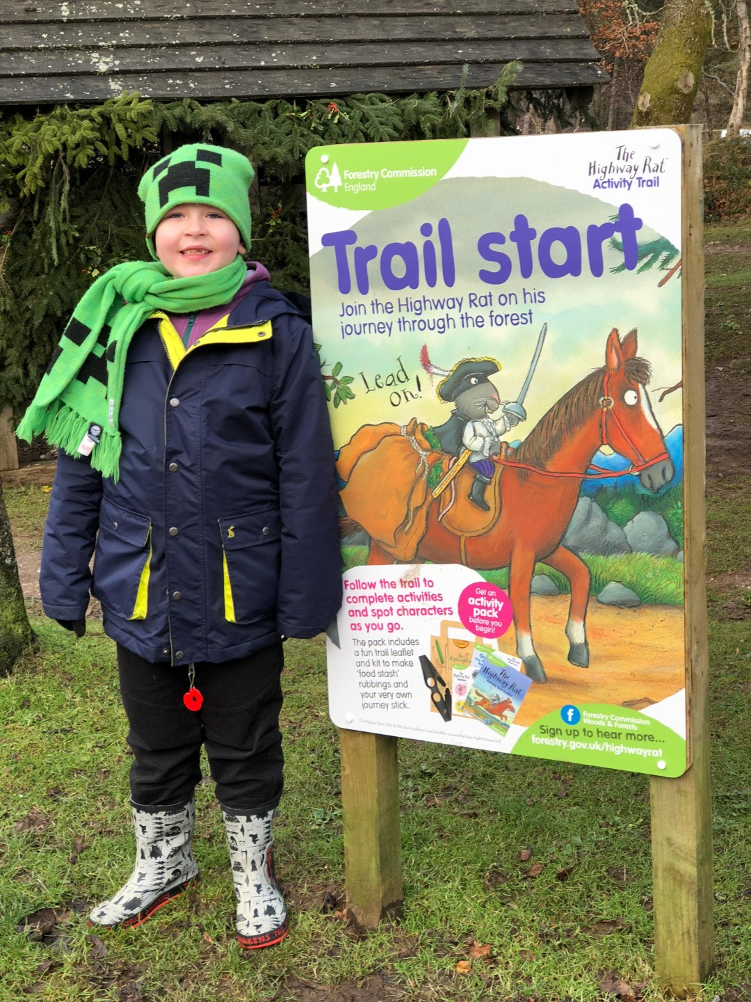 Free Highway Rat activity trail {at Haldon Forest}