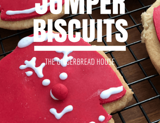 Christmas jumper biscuits for Christmas Jumper Day