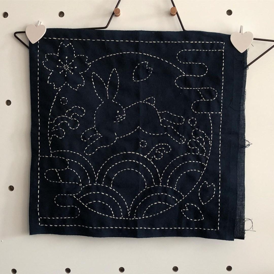 sashiko bunny stitching