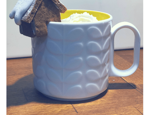 Mini gingerbread house mug hangers