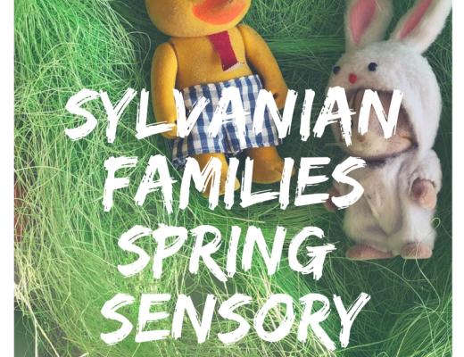 Items for a Sylvanian Families Spring Sensory tray