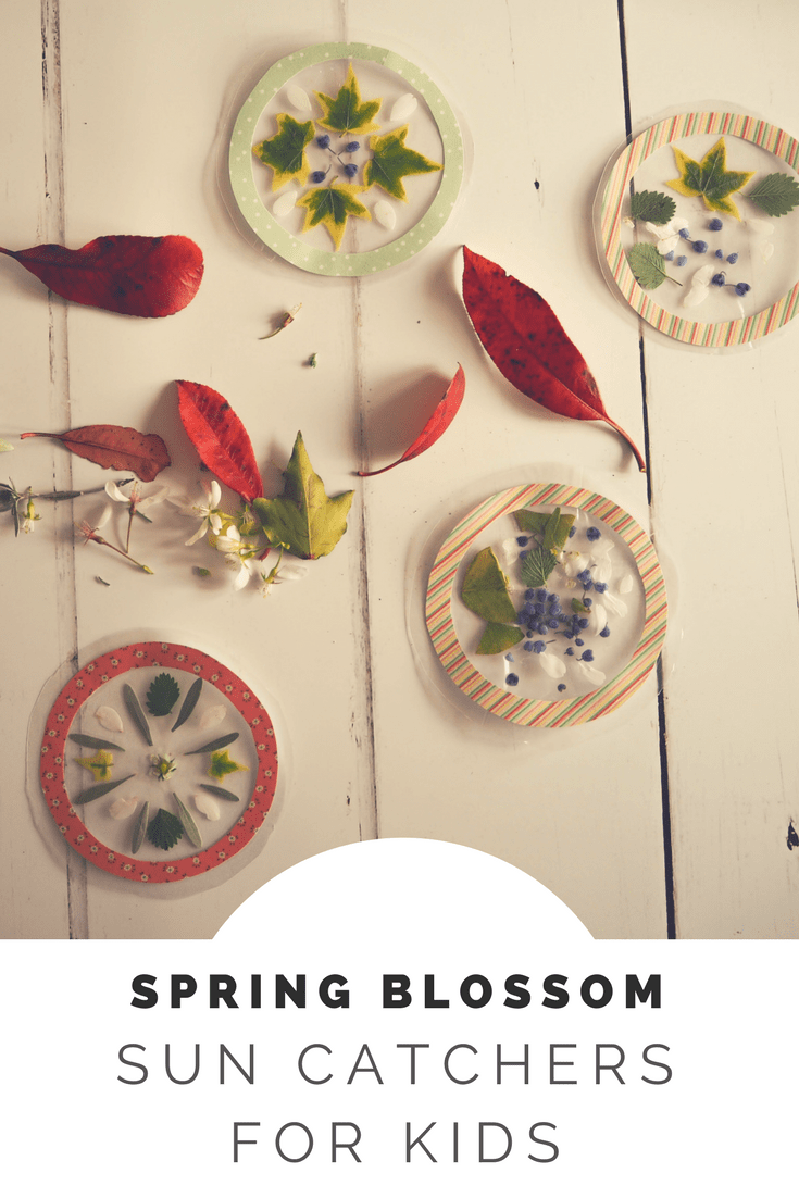 Spring blossom sun catcher craft