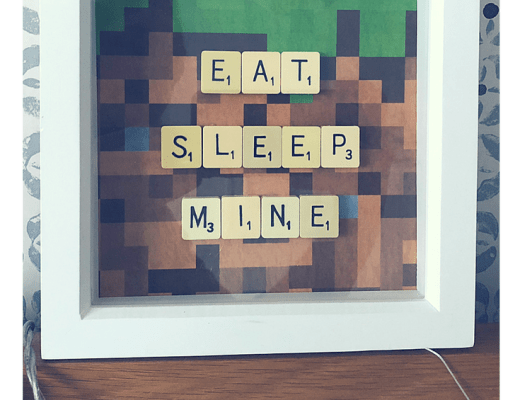 Minecraft inspired wall art