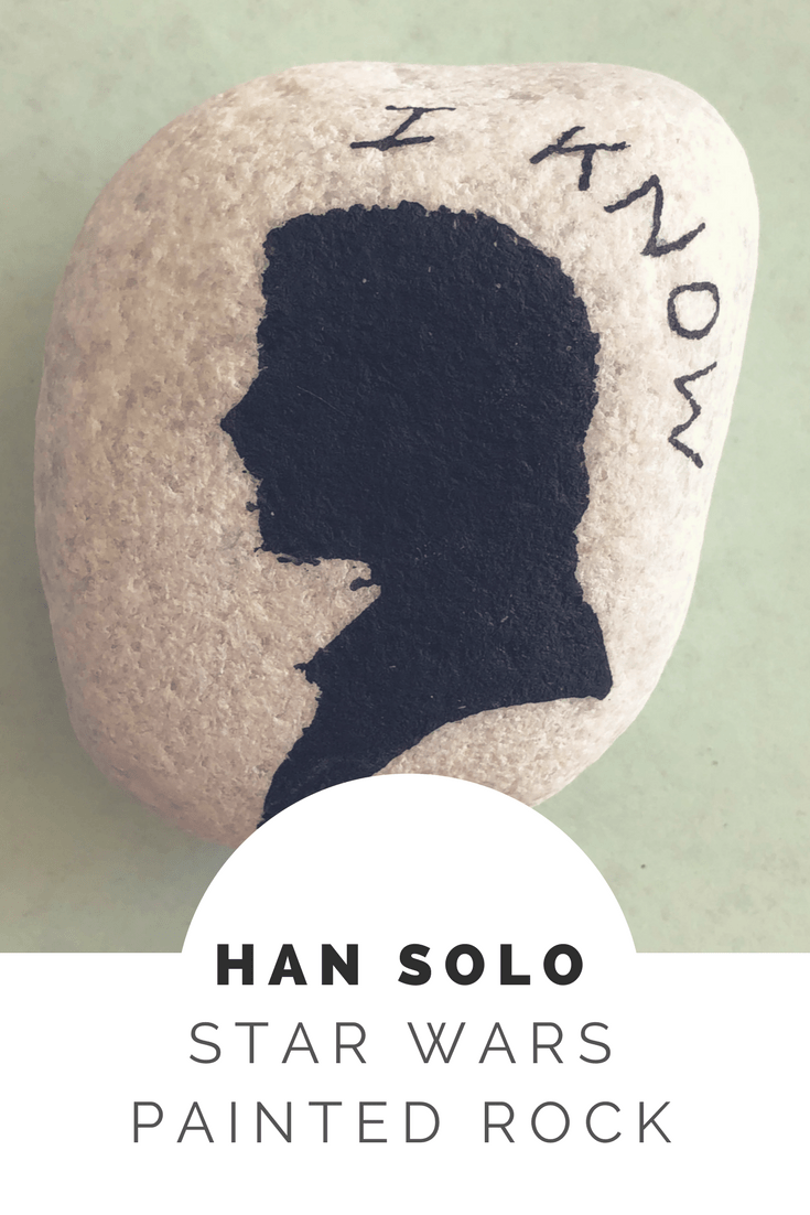 HAN SOLO painted rock