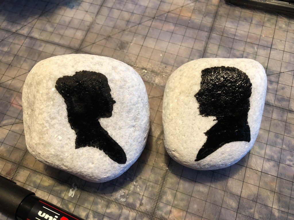 Star Wars painted rock activity