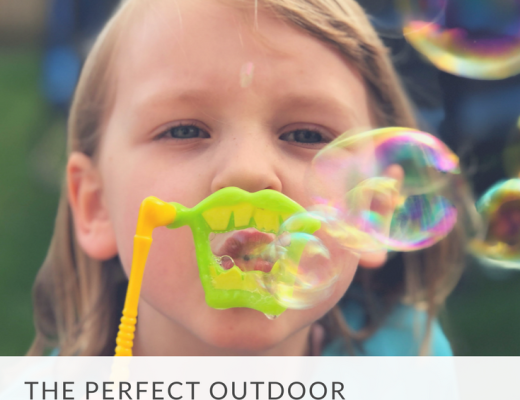 The perfect outdoor activity for kids - playing with bubbles