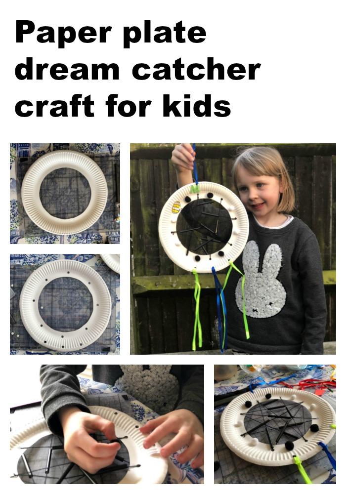paper plate dream catcher craft