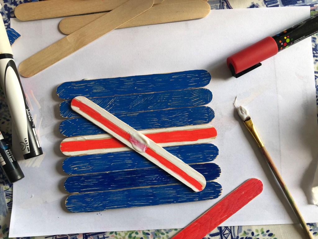 craft stick union flag