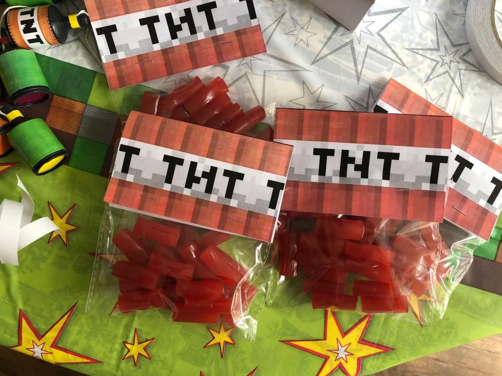 Minecraft TNT party bag