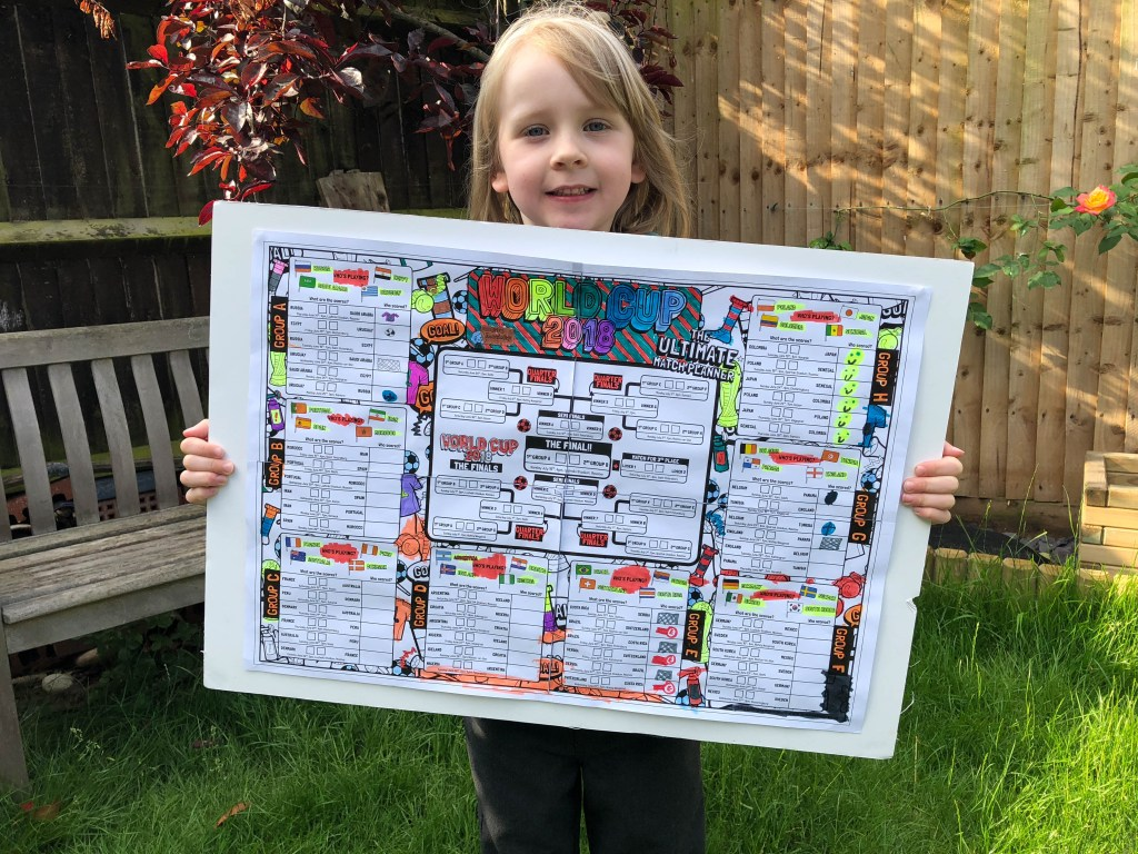 Mrs Mactivity's World Cup 2018 Wall Planner
