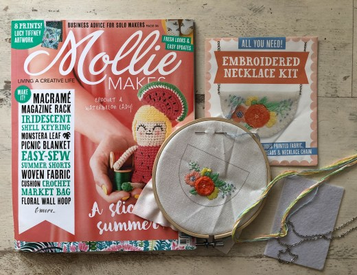 Mollie Makes Embroidered Necklace Kit