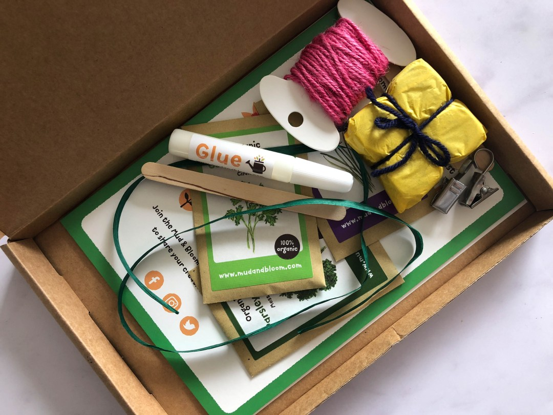 A gardening and nature crafts box for kids