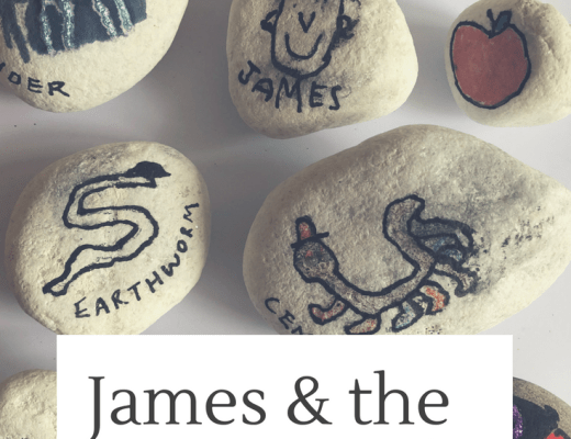 James and the Giant Peach story stones