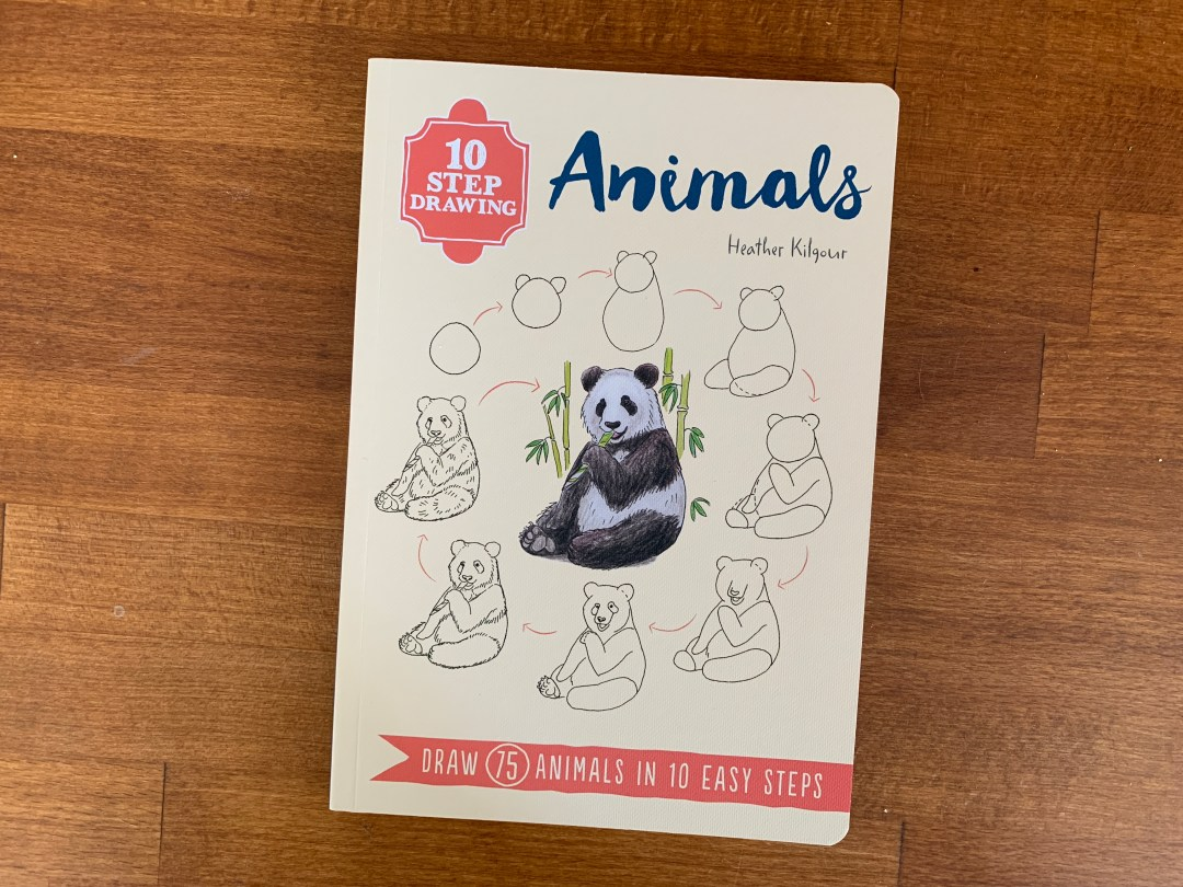 Review and giveaway: 10 Step Drawing: Animals by Heather Kilgour