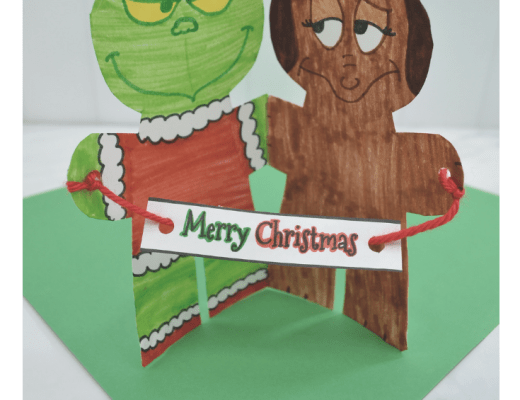 Dr Seuss's The Grinch and Max paper plate craft for kids to make from the gingerbread house blog