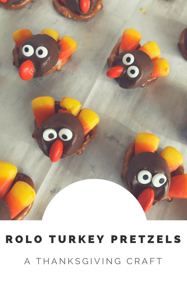 Rolo Turkey Pretzels {a Thanksgiving treat for kids}