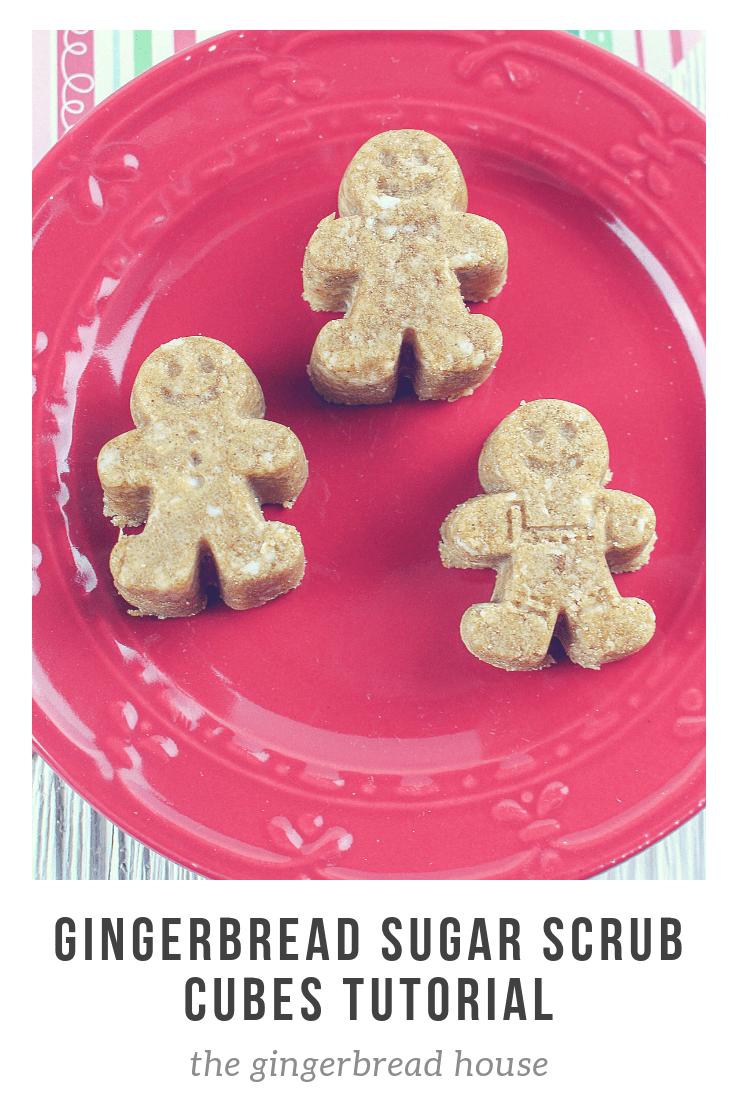 Gingerbread Sugar Scrub Cubes tutorial