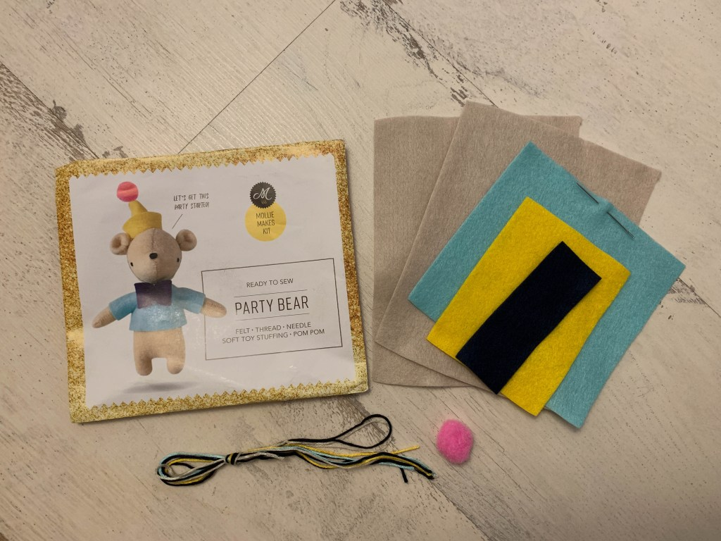 felt party bear kit
