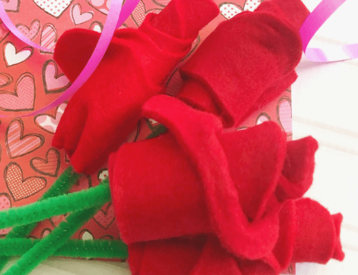 How to make a bouquet of felt roses