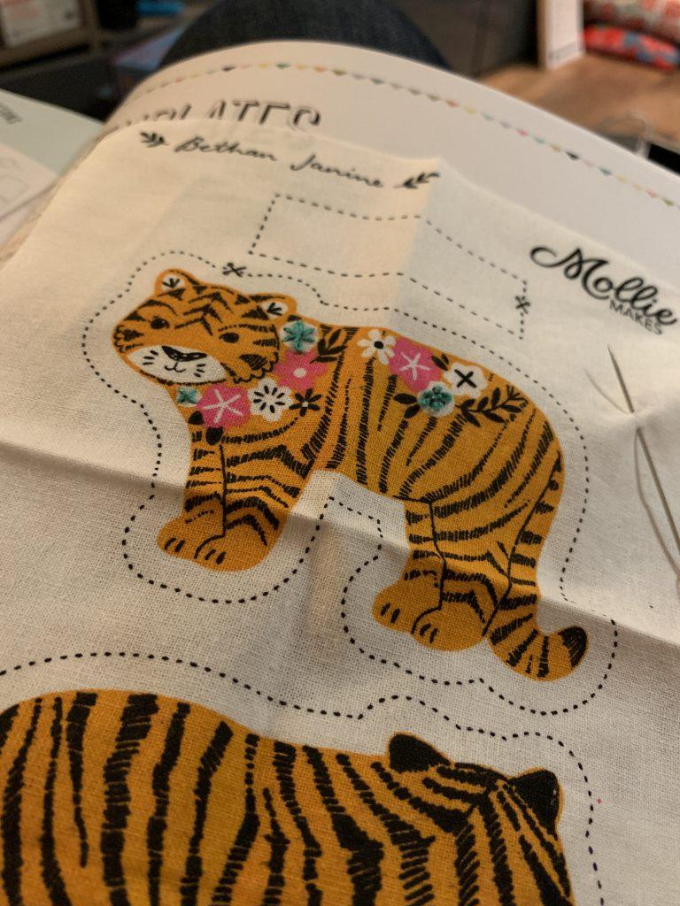 Mollie Makes tiger keyring