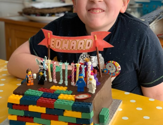 lego brick birthday cake