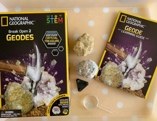 Learning about geodes with National Geographic