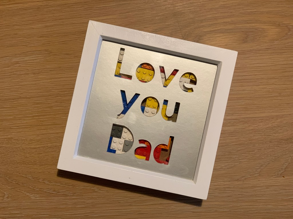 Lego Father's Day wall art