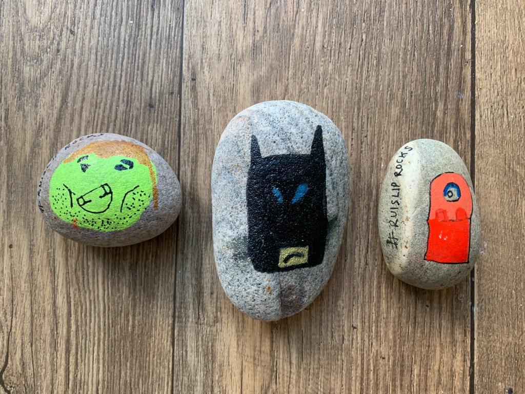 Lego Movie 2 painted rocks