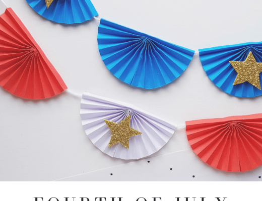 Fourth of July paper banner craft for kids