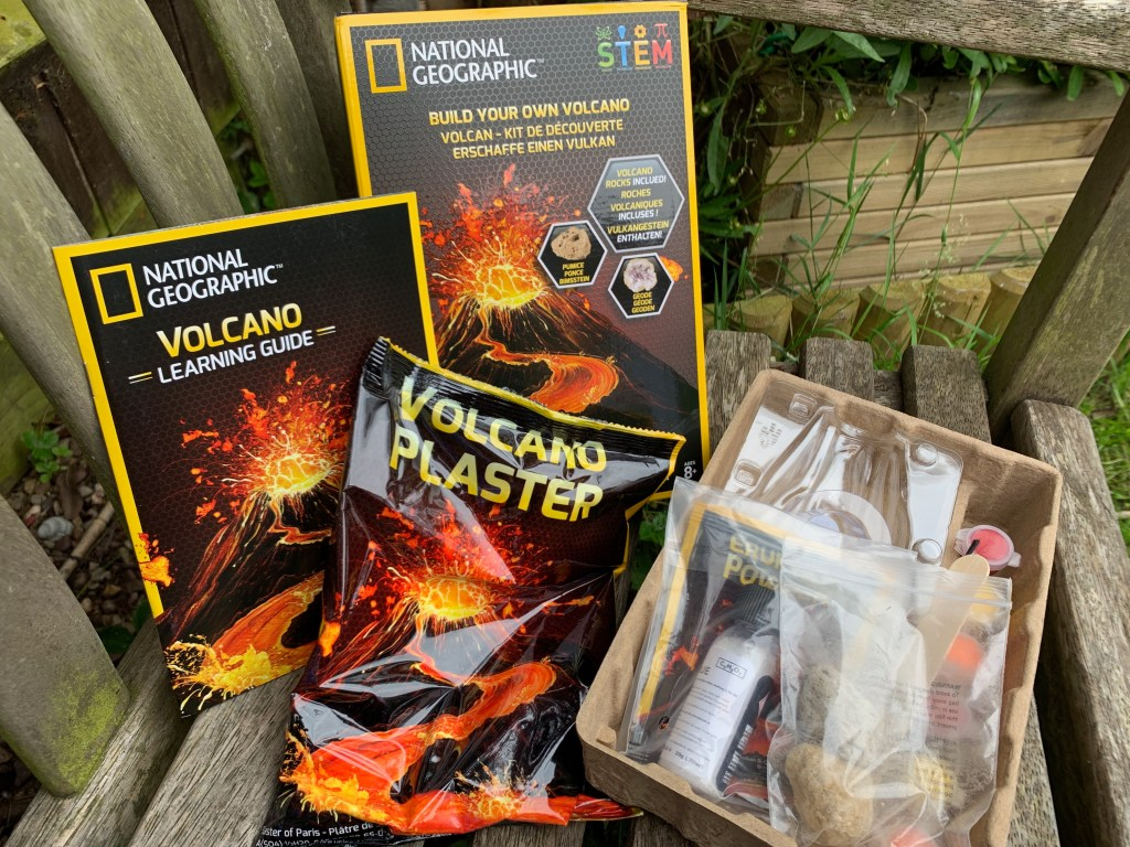 Build Your Own Volcano kit content