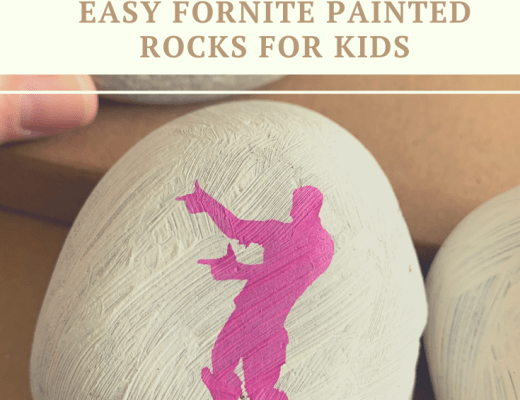 Easy Fortnite painted rocks for kids to make