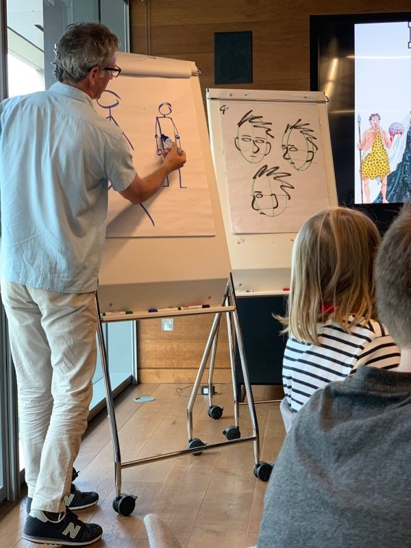 drawing class with Martin Brown