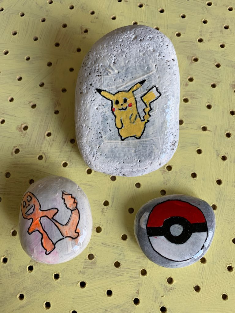 Pokemon painted rocks