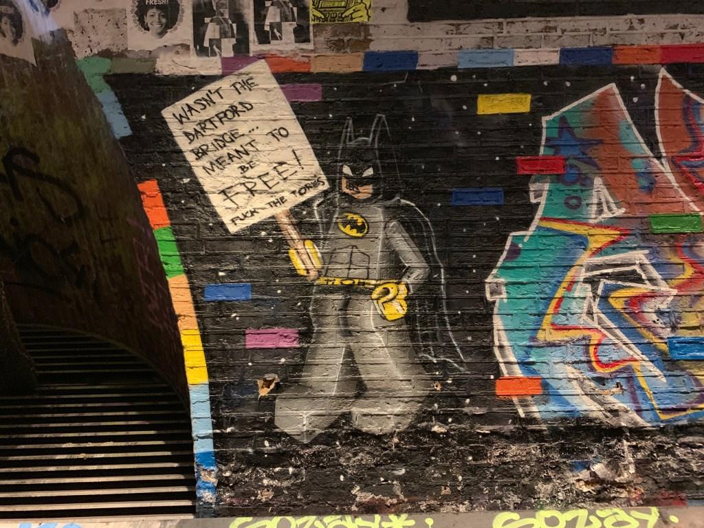 street art at Leake Street Tunnel