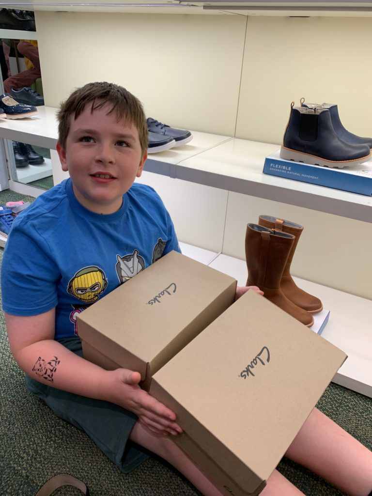 back to school shoe shopping