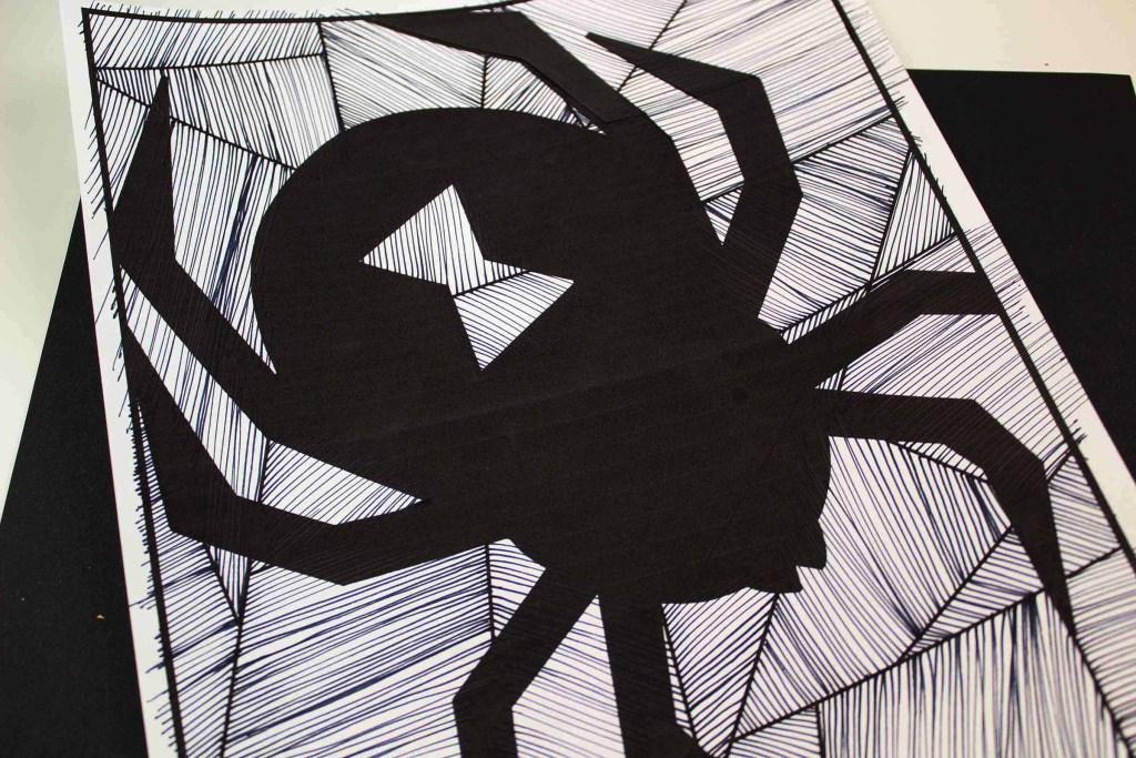 Black Widow Spider line activity for kids