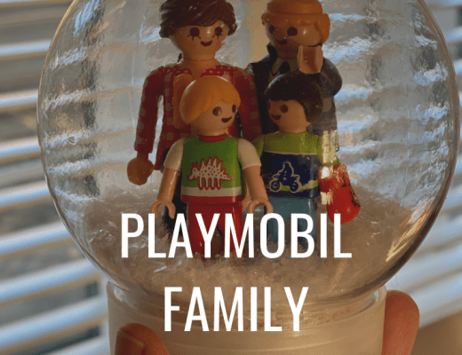 How to make a Playmobil family snow globe decoration