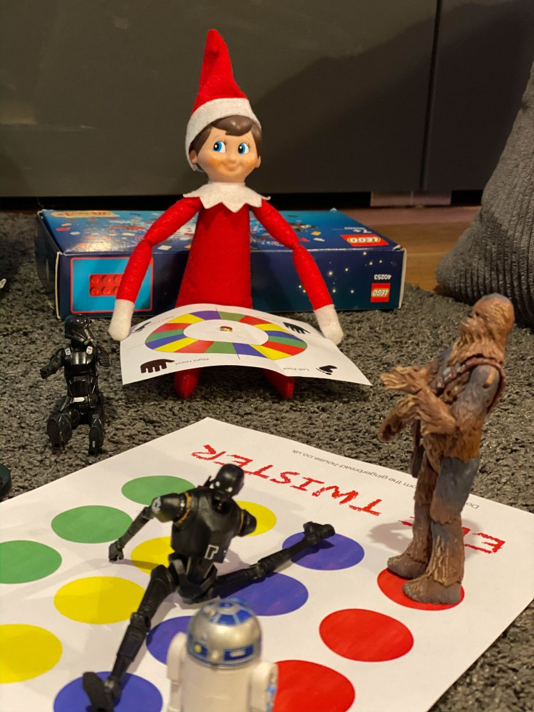 Elf on the Shelf with twister