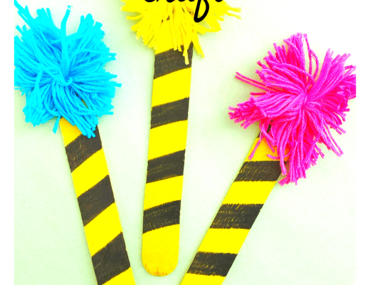 Celebrate Dr Seuss Day: Truffula trees craft