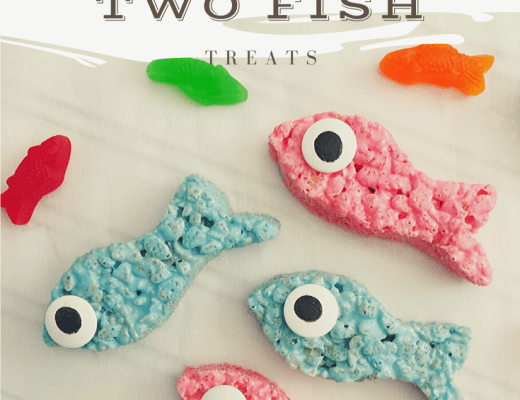 one fish two fish Rice Krispies treats
