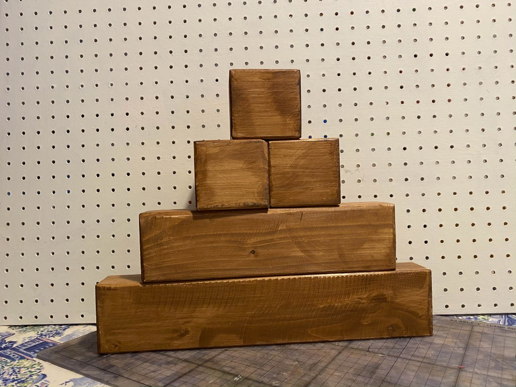 wooden blocks for crafting