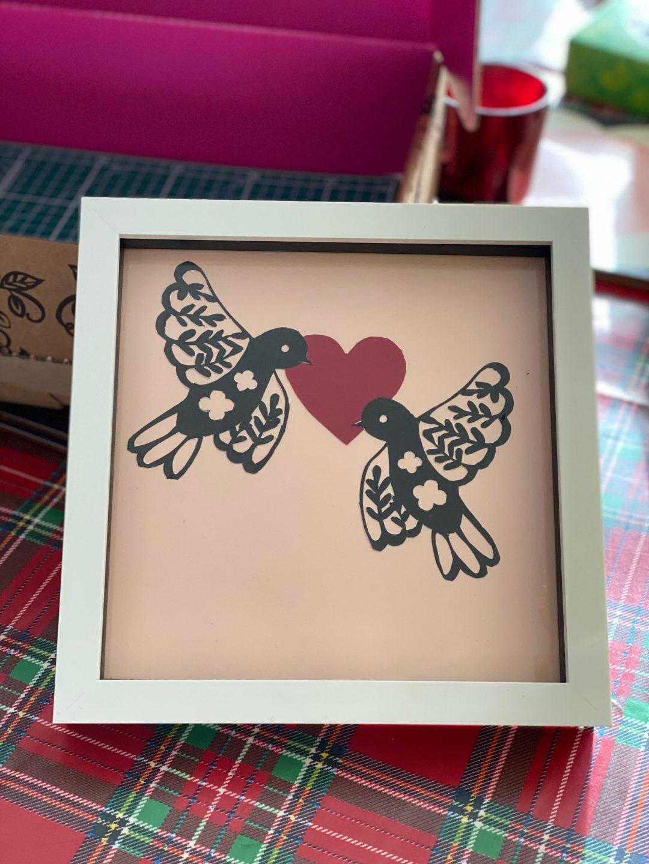 Valentine paper crafting