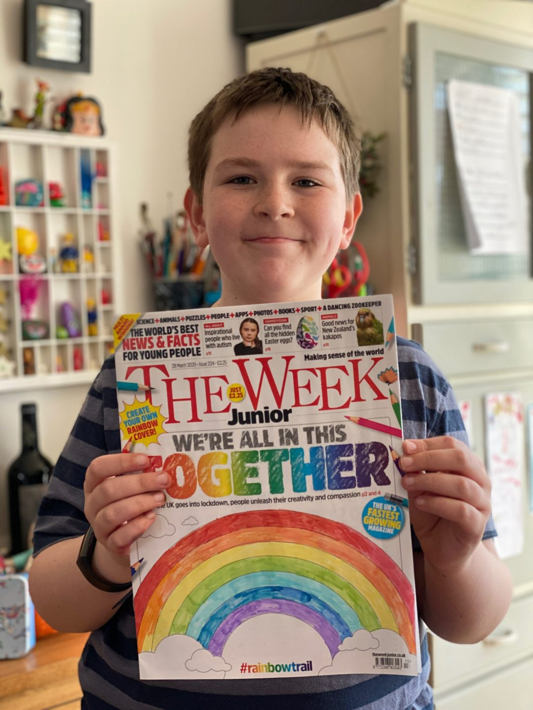 The Week Junior rainbow cover #rainbowtrail