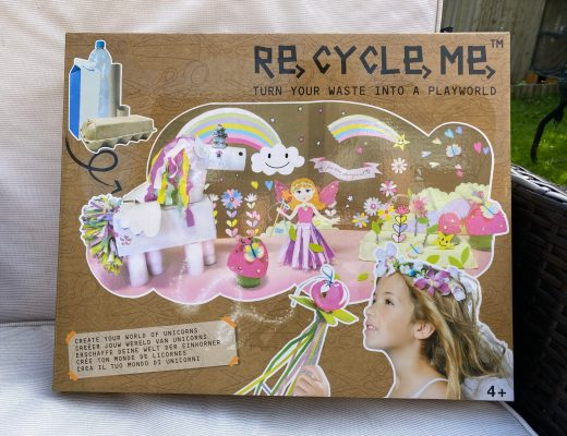 in a Re-Cycle-Me Unicorn Playworld box